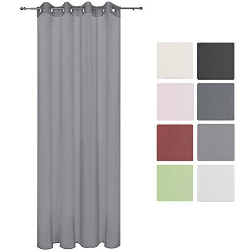 FL:Ösenschal Vorhang Gardine Schlaufen Schal Dekoschal Blickdicht Unifarbe Mode