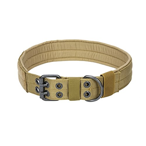 Xidan Military Training Heavy Duty Tactical Nylon Hundehalsband mit D Ring aus Metall & Schnalle