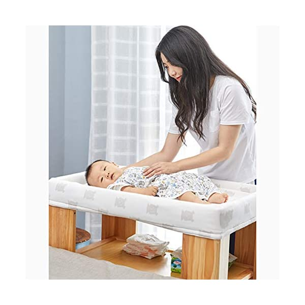 LXZ Baby Diaper Table, Solid Wood Baby Care Table, Bathing Table, Multi-functional Baby Changing Table, Newborn Touch Table LXZ In-line nut, the screw does not directly bite the wood, avoid material damage, more stable, more durable Every corner of the solid wood diaper table, we have been rounded to ensure that every touch of the baby is smooth and smooth. Thickened anti-collision layer design, soft and white protection, protect your baby from being bumped, safely strapped, and let hidden dangers 4