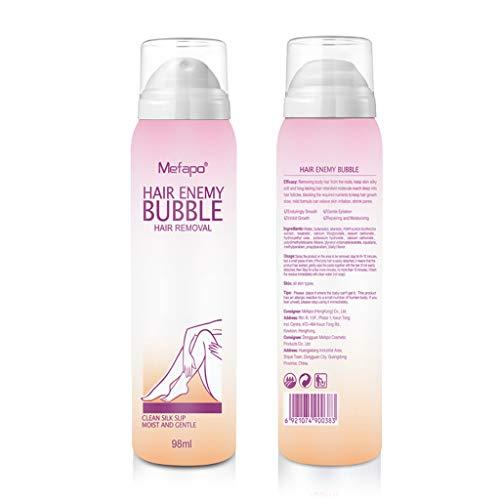 Sprühen Sie Nach Der Rasur (Haarentfernungsspray 2pcs, No Damage No Pain Antiallergisches Mousse Spray Schaum Mousse Creams Enthaarungsmittel 92ml)