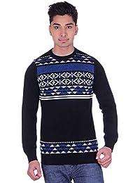 Ogarti Men's Cotton Jacquard Full Sleeve Sweater
