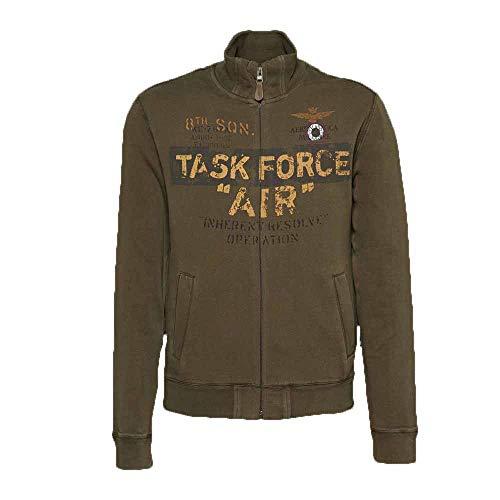 Aeronautica militare felpa con zip uomo colore verde - 182fe1321f361, verde, l