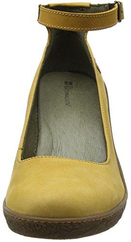 El Naturalista Nf76 Pleasant Lichen, Scarpe con Cinturino alla Caviglia Donna Giallo (Curry)