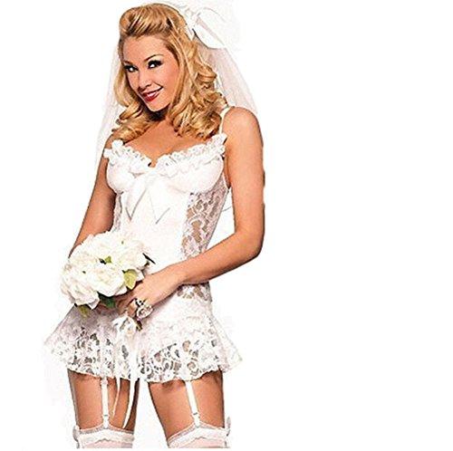 Top Totty Disfraz de novia sexy