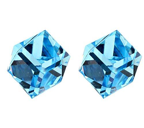 ufengke® Señoras Del Cubo de La Moda Pendientes de Cristal de Flores