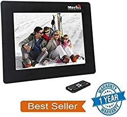 Merlin digital india 7-inch Digital Media Frame with LCD Panel Screen, Motion Sensing Function and Supports MS, SD, MMC, USB-Disk Card