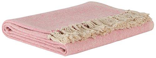 IB Laursen Manta Crema/Rosa Claro 130* 160cm algodón