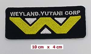 Aliens Écusson brodé à coudre ou thermocollant avec inscription «Weyland-Yutani Corp» 10,2cm