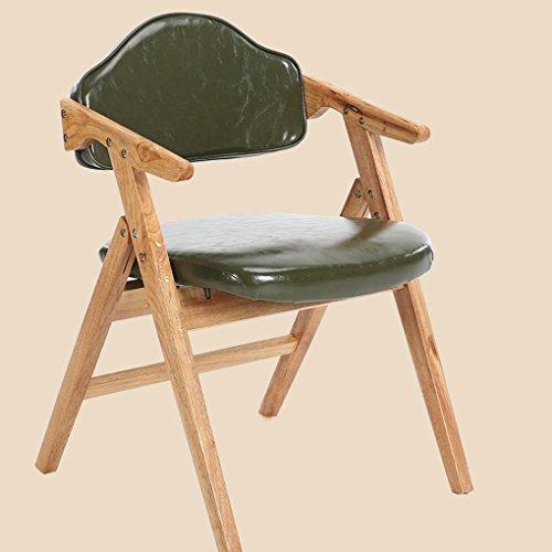 Zhdc® sedia da pranzo pieghevole in legno massello sedia da studio minimalista moderna minimalista poltrona da ufficio in stile nord europa sgabello pigro ( colore : #4 )