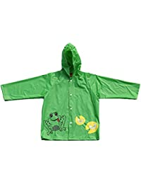 Children's Frog Design Waterproof Raincoat with Elasticated Hood