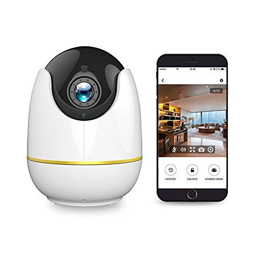 Wireless-IP-Kamera, 360-Grad-Wide View, 1080P HD Home WiFi Sicherheit Überwachungs kamera mit Bewegungs erkennung P / T / Z, Cloud Recording, 2 Wege Audio und Nachtsicht, Baby Monitor /Pet/Nanny Cam