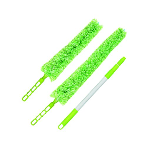 cleanmaxx-set-da-3-pezzi-piumino-cattura-polvere-colore-verde-lime-bianco