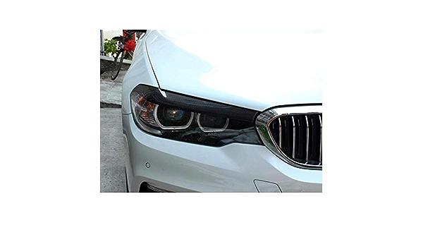 Tphjrm Carbon Frontscheinwerferabdeckungen Augenlider Augenbrauen Scheinwerfer Augenbrauen Augenlidaufkleber Für Bmw 525i 530i 540i 2017 2019 G30 G31 F90 M5 Sport Freizeit