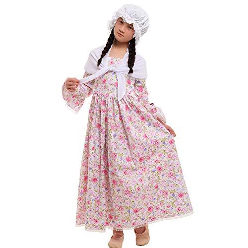Rose Kostüm Mädchen Victorian - GRACEART Kinder viktorianischen Maid Kostüm (8, Rose)