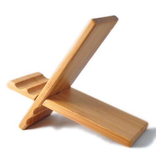 eimo Legno naturale di bambù duro Panel riposare per iPhone, iPad, Samsung telefono cellulare, Tablet PC, eReader, Opera e più (ciliegia)