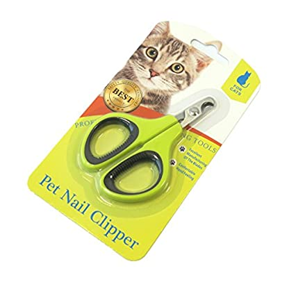 Kyerivs Pet Nail Clippers, Stainless Steel Blades Cat Nail Clippers Scissors & Claw Trimmer for Home Grooming Kit… 1
