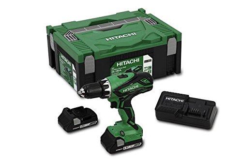 Hitachi 93256446 3.0L Compact (HSC II) Akku Bohrschrauber DS18DJL, 18 V, Verde, Plata -