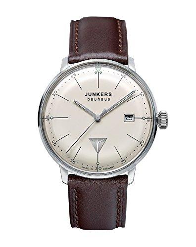 Junkers Herren-Armbanduhr XL Bauhaus Quarz Leder 60705