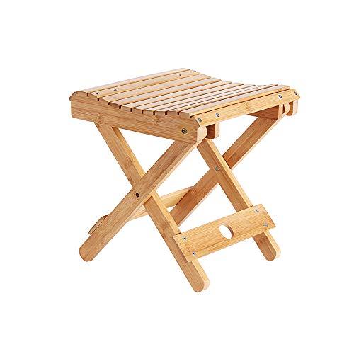 YQQ Bambou Tabouret Pliable Tabouret Portable Bois Massif Mazar De Plein Air Chaise De Pêche Petit Banc Tabouret Carré