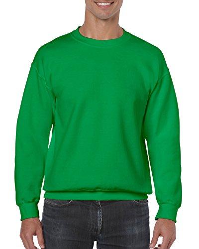 Gildan Herren Fleece-Rundhals-Sweatshirt - Grün - Klein Athletic Crew Pullover