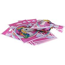 Decoración para fiesta de cumpleaños con diseño de unicornio de MagiDeal - Banderín, cajas para