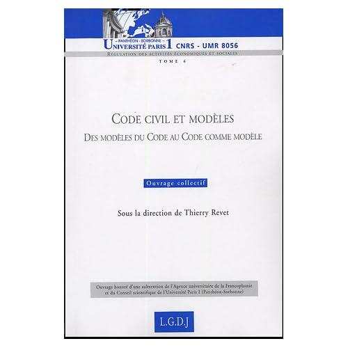 Code civil et modèles : Des modèles du Code au Code comme modèle