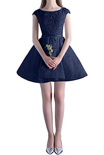 La_Marie Braut Rosa Glamour Spitze Mini Kurzes Abendkleider Promkleider Cocktailkleider heimkehr Tanzenkleider Navy Blau