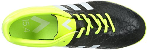 adidas Ace 15.4 Turf, Chaussures de football homme Noir (Core Black/White/Solar Yellow)