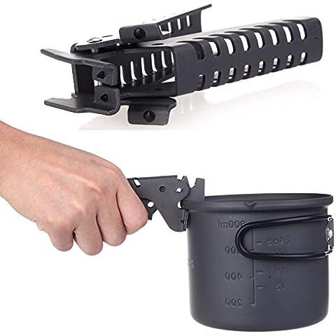 frixie (TM) anticalcare Ultralight Campeggio Barbecue Pentole Strumenti cucina ciotola pot Gripper in alluminio anodizzato Pot pinze morsetto Hot