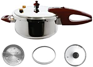 Wonderchef Essenza Italiana Induction Base Pressure Cooker, 3 Litres