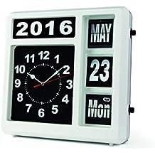 Velleman - Reloj de Pared con Calendario, 32 x 33,2 x 10 cm