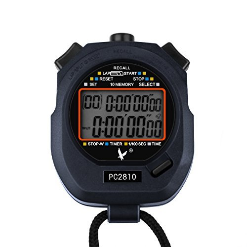 AOZBZ Digitale Stoppuhr Sport Timer, Schiedsrichter-Chronograph mit Glockenspiel und Alarm Großanzeige für Wettbewerb Alarm Glockenspiel