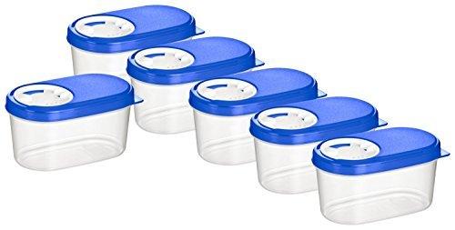 Haushaltsdose Gewürzdosen Schüttdosen Streudosen Vorratsdosen 0,14l 6er Set blau