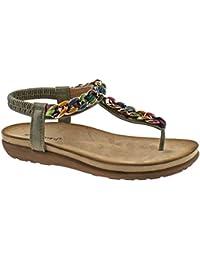 Ubershoes, Sandali donna, Multicolore (Multi), 3 UK