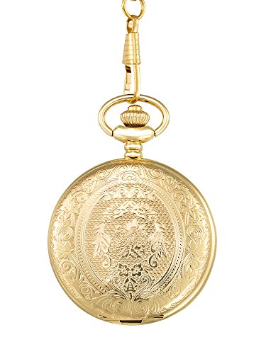 2c64a8372185 Vintage Stainless Steel Quartz Pocket Watch Chain