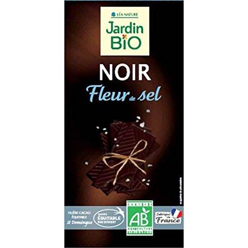 Jardin Bio chocolat noir fleur de sel 100 g - ( Prix Unitaire ) - Envoi Rapide Et Soignée