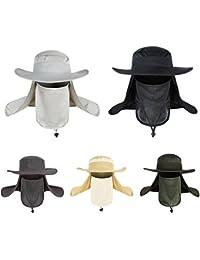 Viajes de verano al aire libre pesca sol mens sombrero Sombreros Gorro anti UV anti - mosquito