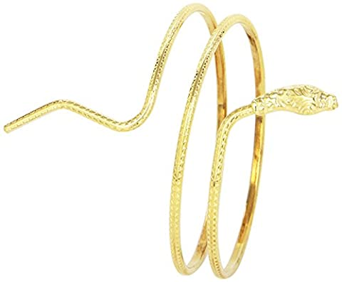 Smiffy's Egyptian Roman Spartan Gold Snake Armlet Fancy Dress Ladies Costume Accessory