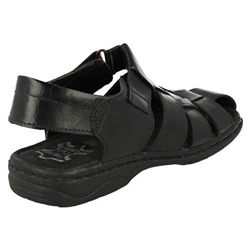Homme Mozax Sandales B-207814= Noir - noir