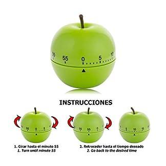 ORYX Minutero Cocina Manzana 60 Minutos, Verde, 8x8x8 cm
