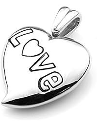 Colgante de acero inoxidable colgante corazón Love Amor ENAMORADO steelysports partituras amor bomba Bio para hombre