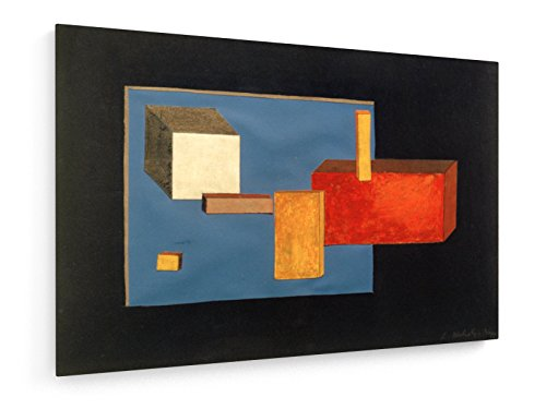 Laszlo Moholy-Nagy - Bühnenelemente - 75x50 cm - Textil-Leinwandbild auf Keilrahmen - Wand-Bild - Kunst, Gemälde, Foto, Bild auf Leinwand - Alte Meister/Museum