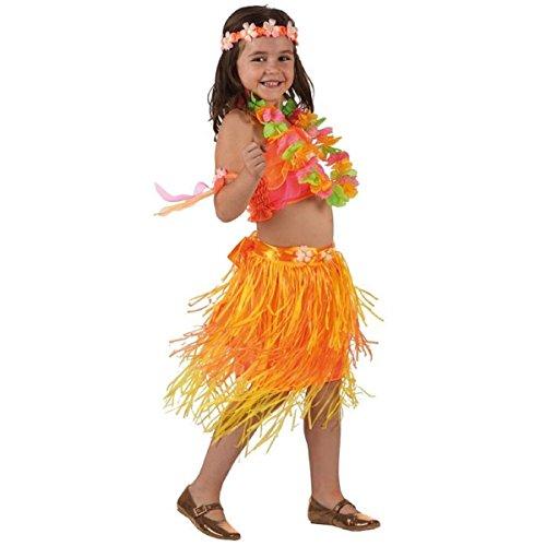 Mela-Proibita-Traje-nia-de-hawaiano-fantasa-fiesta-lee-fiesta-falda-top-collar-mar-Naranja-34-aos