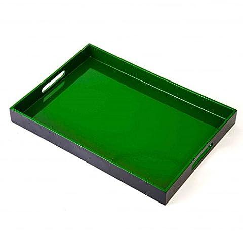 THE YELLOW DOOR Grün Schwarz Solide Bambus Perfekt Portion Tablett -Von The Zao Sammlung (Sammlung Platz Platter)