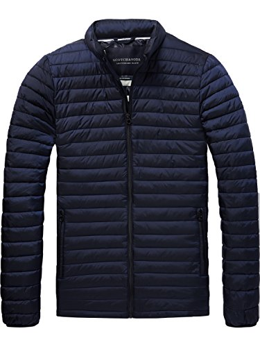 Scotch & Soda Herren Simple Quilted Fake Jacket Jacke, Blau (Night 58), Medium