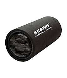 Krown Active Car Bass Tube -8 inch 3600W output with inbuilt Amplifier