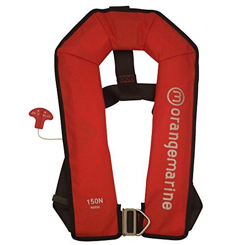 Rettungsweste manuell aufblasbar mit Gurt 150 N - rot - Rettungsweste Orangemarine - Aufblasbare Rettungsweste
