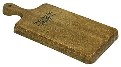 48,3cm Bon Appetit Artisan de style antique en bois Paddle Coupe et de planche de service Plateau