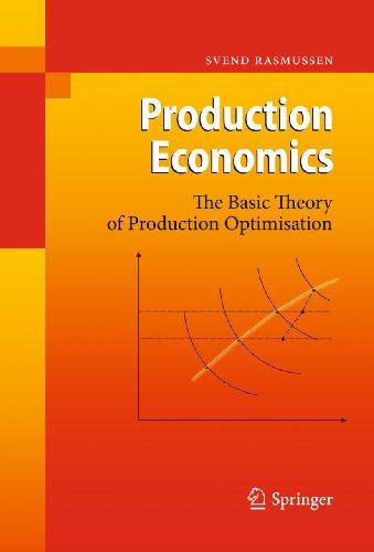 Descargar Libros Para Ebook Gratis Production Economics: The Basic Theory of Production Optimisation Epub Sin Registro