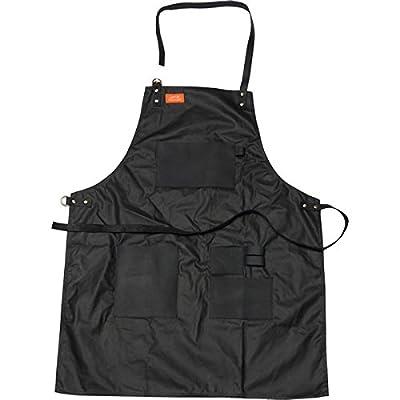 Traeger Grillschürze aus Leinen & Leder mit Wachsschutzschicht, schwarz mit Logo